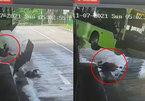 Video xe buýt chở 20 người gặp nạn, tài xế bị bắn ra ngoài từ lối cửa sổ