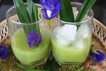 Cách làm sữa đậu xanh lá nếp thơm mát giải nhiệt mùa hè