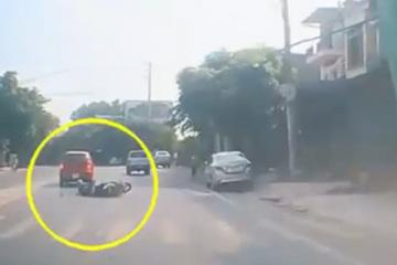 Công an Thái Nguyên vào cuộc vụ ô tô va xe máy ngã xòe sau cuộc rượt đuổi gay cấn giữa phố