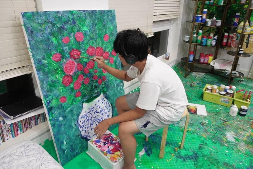 bán đấu giá tranh,họa sĩ Xèo Chu,họa sĩ nhí,thiện nguyện