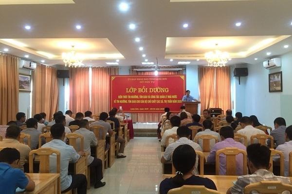 Lạng Sơn: Tăng cường quản lý nhà nước về tín ngưỡng, tôn giáo