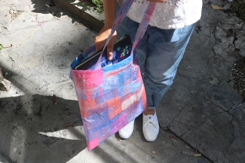 DIY,túi xách từ nilon