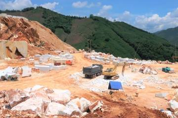 Khởi tố vụ khai thác đá trắng trái phép quy mô lớn ở Nghệ An