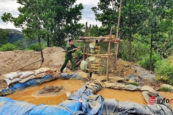 """Tổ chức truy quét các """"điểm nóng"""" khai thác vàng trái phép ở Quảng Nam"""