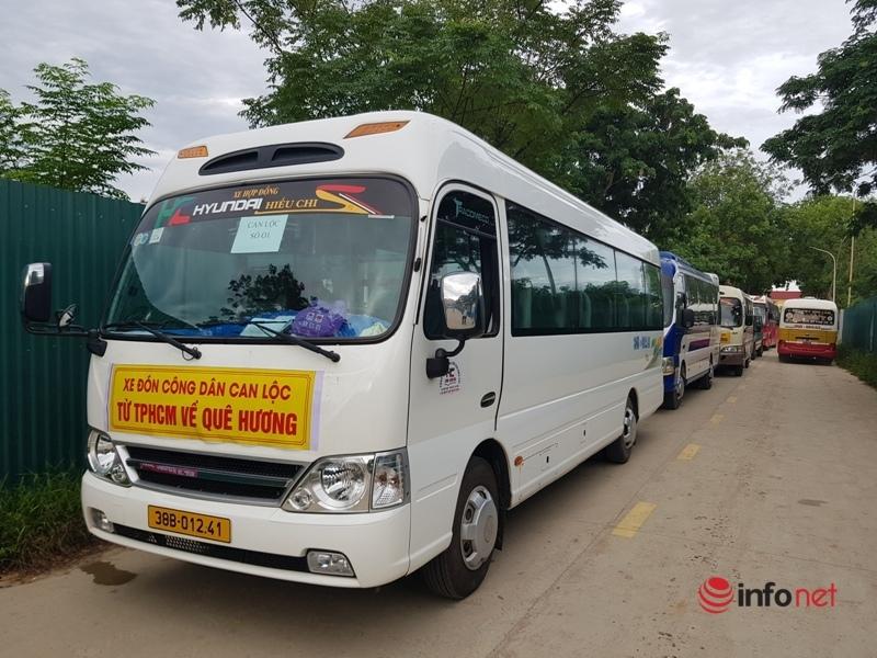 Hình ảnh chuyến tàu đưa 814 người con Hà Tĩnh từ Tp.HCM về quê nhà an toàn