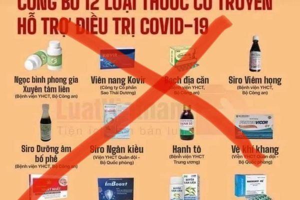 Thu hồi văn bản '12 loại thuốc đông y điều trị Covid-19': Cục trưởng Cục Quản lý Y Dược cổ truyền nói gì?