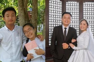 Chuyện tình 10 năm viên mãn của cặp đôi sinh cùng tháng, cùng năm, học cùng trường