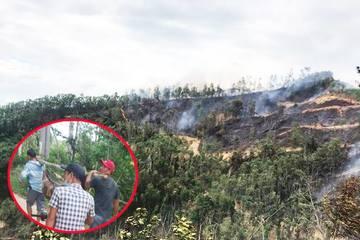 Quảng Nam: Người đàn ông tử vong trong lúc dập lửa vụ cháy rừng