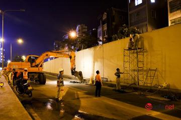 Công nhân làm xuyên đêm sửa hầm Kim Liên, cấm phương tiện xuống hầm chiều Đại Cồ Việt - Xã Đàn