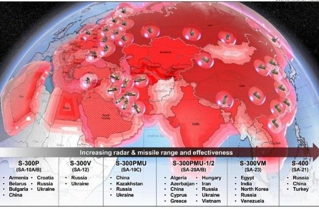 Uy lực của hệ thống phòng không Nga bao phủ 90% lục địa Á-Âu