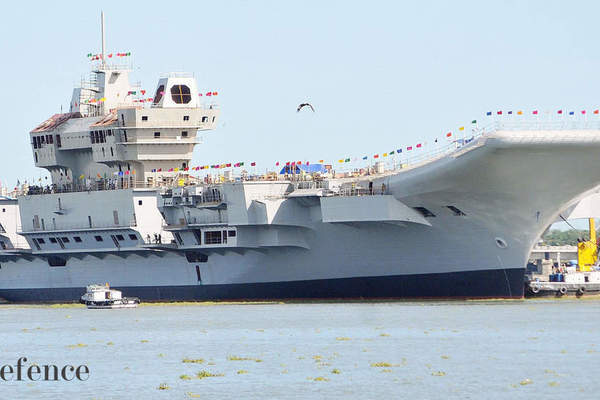 Sức mạnh 'ghê gớm' của tàu sân bay nội địa Ấn Độ đang thử nghiệm