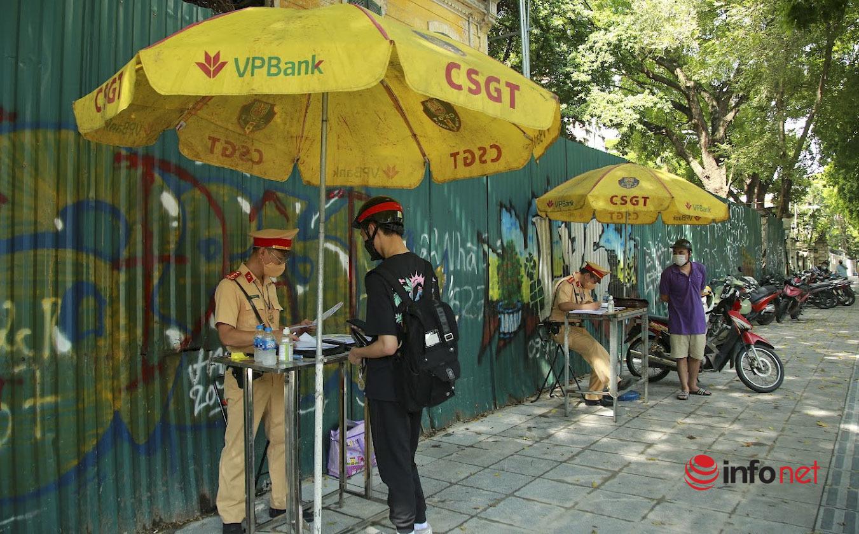 Hà Nội: Nhiều trường hợp bị xử phạt trong ngày đầu tổ công tác đặc biệt kiểm soát người đi đường