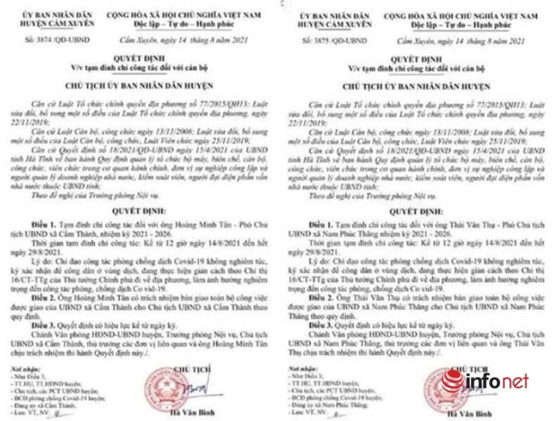 Hàng loạt cán bộ xã ở Hà Tĩnh bị kỷ luật vì thiếu trách nhiệm trong phòng, chống dịch
