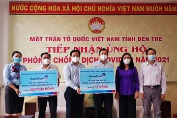 VietinBank hỗ trợ tỉnh Bến Tre 7,2 tỷ đồng phòng, chống dịch Covid-19
