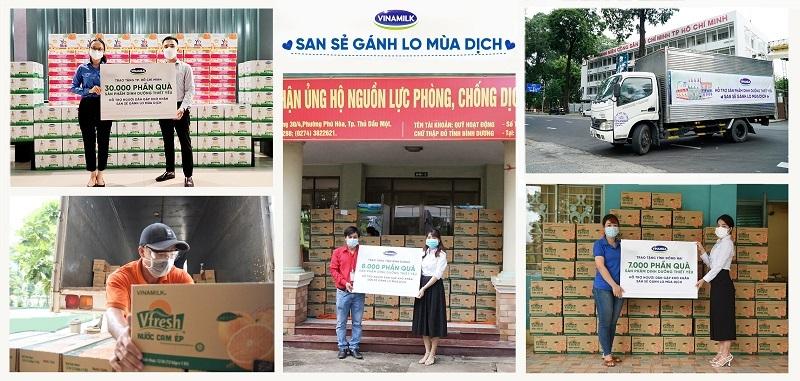 """Tháng sinh nhật, Vinamilk trao """"quà sức khỏe"""", cùng cộng đồng vượt qua đại dịch"""