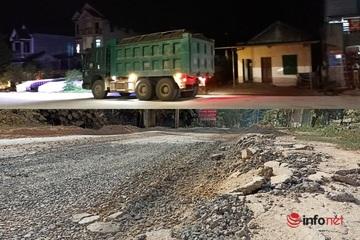 Thanh Hóa: Xe tải chạy xuyên ngày đêm, cày nát tỉnh lộ 520