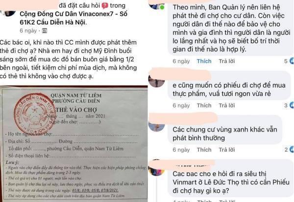 Hà Nội: Chung cư không phát phiếu đi chợ cho dân, chỉ phát cho chủ ki ốt, phường nói gì?