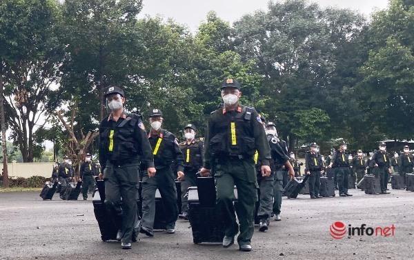 100 cảnh sát cơ động Tây Nguyên vào Bà Rịa – Vũng Tàu chống dịch