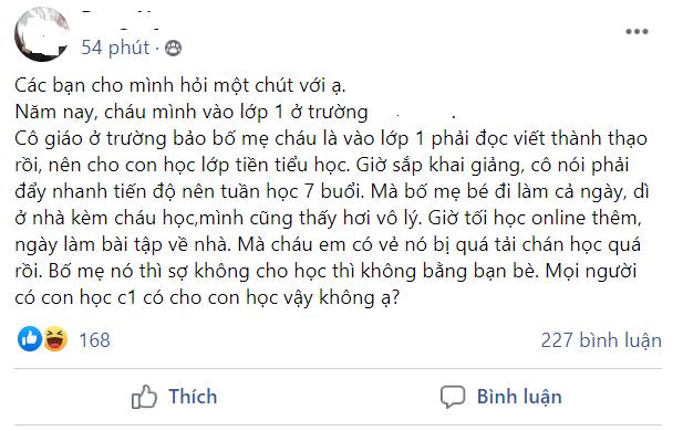 học sinh lớp 1,học trực tuyến,Hà Nội