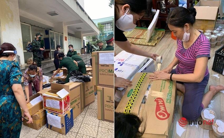 Cả phố Hà Nội làm hàng tạ muối vừng gửi bác sĩ quân y đi chống dịch