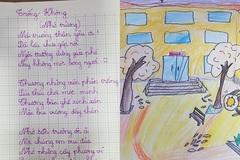 Nam sinh lớp 4 làm thơ về nỗi nhớ trường, tiêu đề thông minh khiến nhiều phụ huynh bất ngờ