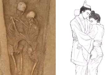 Bí mật ngôi mộ cổ của cặp đôi ôm nhau đến lúc chết