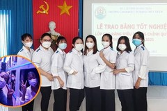 Lễ tốt nghiệp đặc biệt của 8 nữ sinh viên tình nguyện vào TP.HCM chống dịch