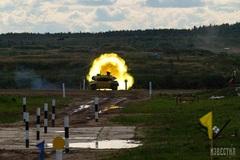 Mãn nhãn với màn trình diễn của đội tuyển xe tăng Nga ở nội dung 'Xe tăng hành tiến'