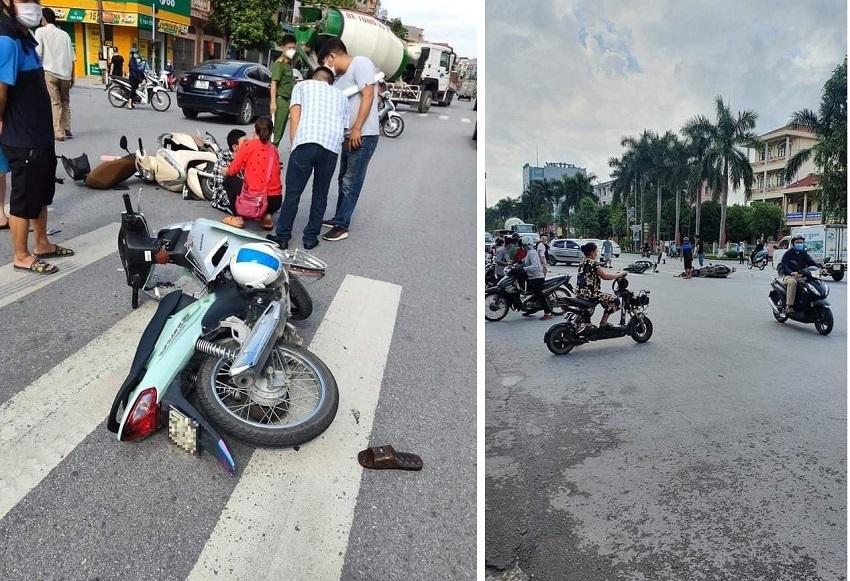Nam thanh niên phóng xe máy 'tốc độ bàn thờ' qua ngã tư gây tai nạn kinh hoàng