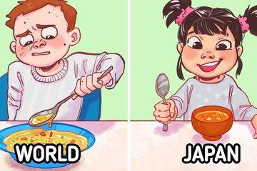 Bí kíp của cha mẹ Nhật dạy con không kén ăn