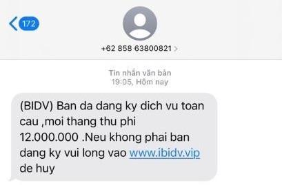 Rộ tin nhắn, email giả mạo ngân hàng, lừa đảo 'hỗ trợ người dân khó khăn' mùa dịch