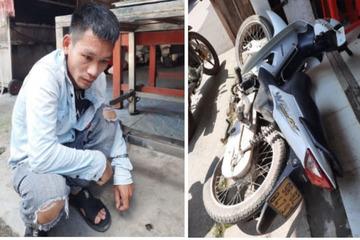 Nam thanh niên vừa ra tù đi trộm xe máy bị người dân tóm gọn