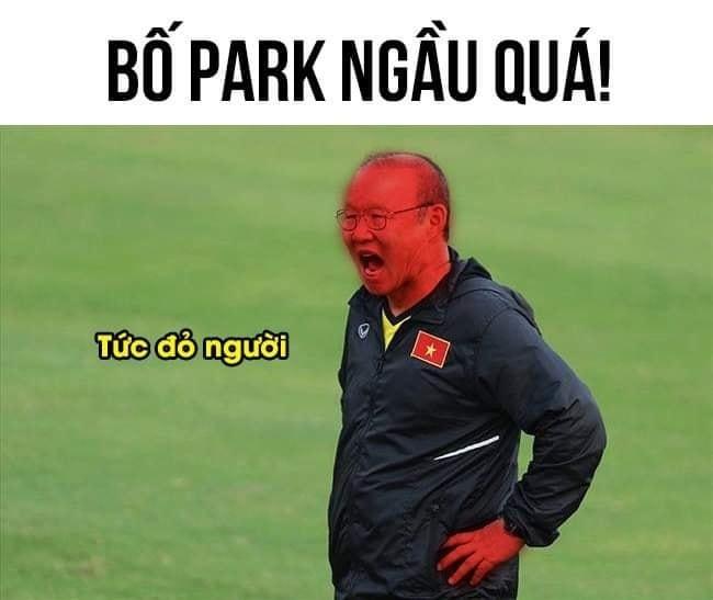 Cộng đồng mạng phát sốt với meme HLV Park 'xem trộm' VAR