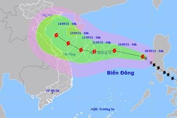 Bão vào Biển Đông, cách Hoàng Sa khoảng 780km, gió giật cấp 11