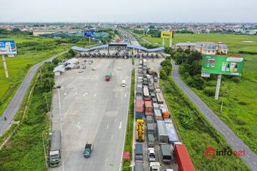 Hà Nội: Trạm kiểm soát cao tốc Pháp Vân - Cầu Giẽ ùn tắc kéo dài hàng ki lô mét