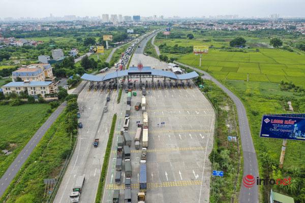 cao tốc Pháp Vân Cầu Giẽ,Trạm kiểm soát phòng dịch,Giao thông ùn tắc,xe luồng xanh