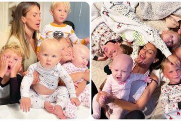 Đời thực 'hỗn loạn' của người mẹ nổi tiếng cùng 6 con nhỏ cực đáng yêu