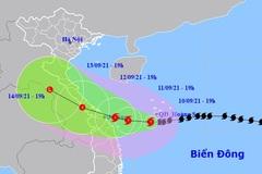 Bão số 5 tiếp tục tăng cấp trong 24 giờ tới, tiến gần bờ biển Quảng Trị - Quảng Nam