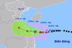 Bão số 5 gió giật cấp 12 hướng vào Quảng Trị - Quảng Nam, mưa lớn trên đất liền