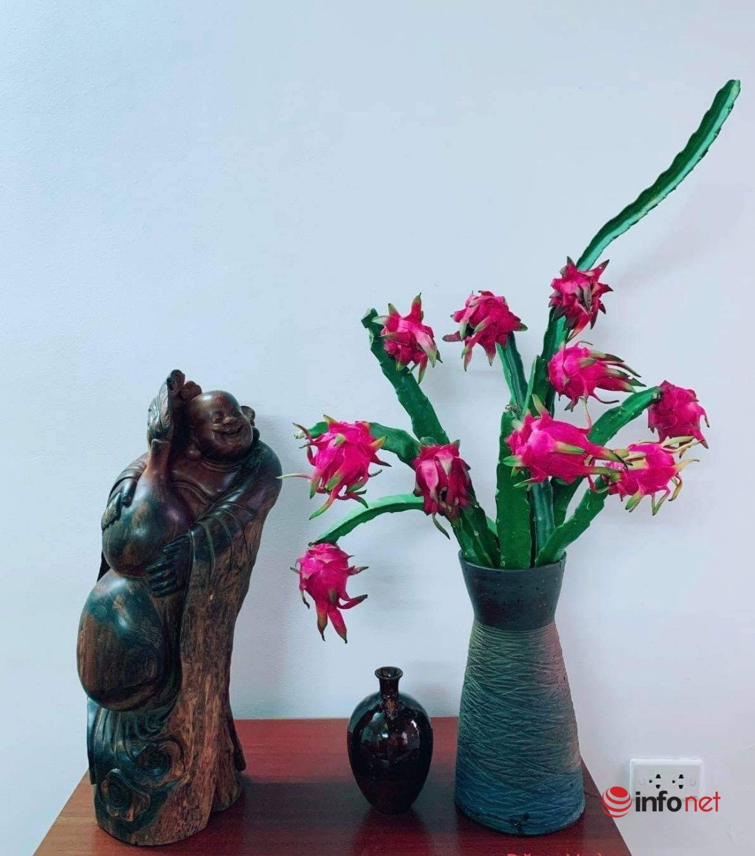 cành thanh long,Cắm hoa,Thú chơi hoa