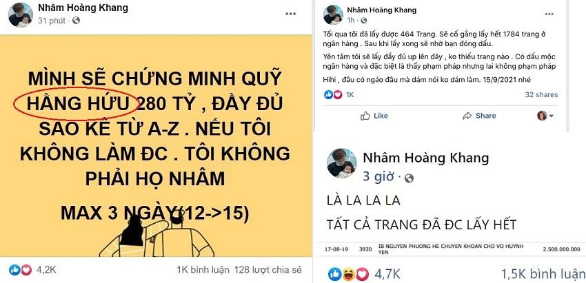 Nhâm Hoàng Khang 'quay xe' vụ link full sao kê khiến dân tình ngã ngửa, thông điệp cuối nhiều ẩn ý