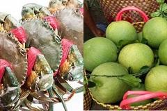 Tôm, cua biển tăng giá; bưởi da xanh ế ẩm cận Tết Trung thu, giá dưới 10.000 đồng/kg