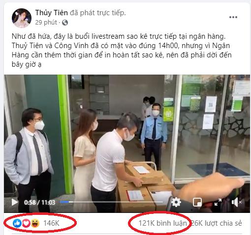 Tranh cãi sau việc Công Vinh - Thủy Tiên công khai 18.000 tờ sao kê từ thiện