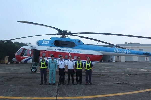 Công ty trực thăng miền Bắc hợp đồng bay cứu hỏa, vận chuyển dân sự tại Indonesia