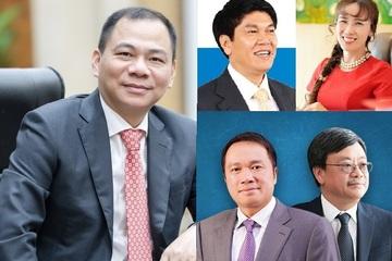 Tuần biến động cực mạnh tài sản của các tỷ phú Việt giàu nhất