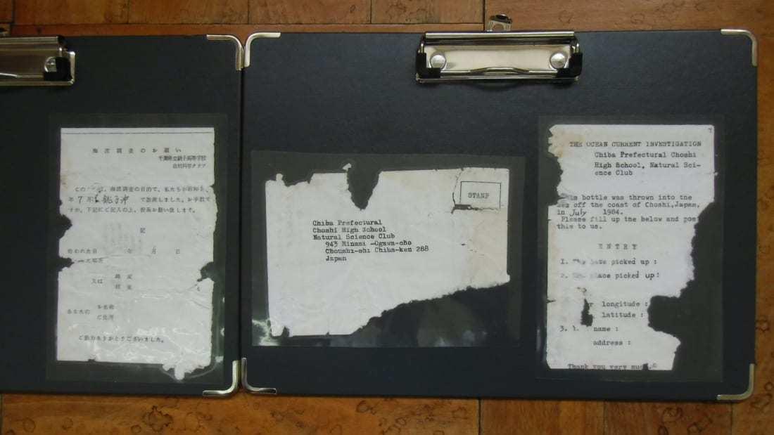 Lá thư trong chai 'xuất phát' từ Nhật Bản đến Mỹ sau 37 năm