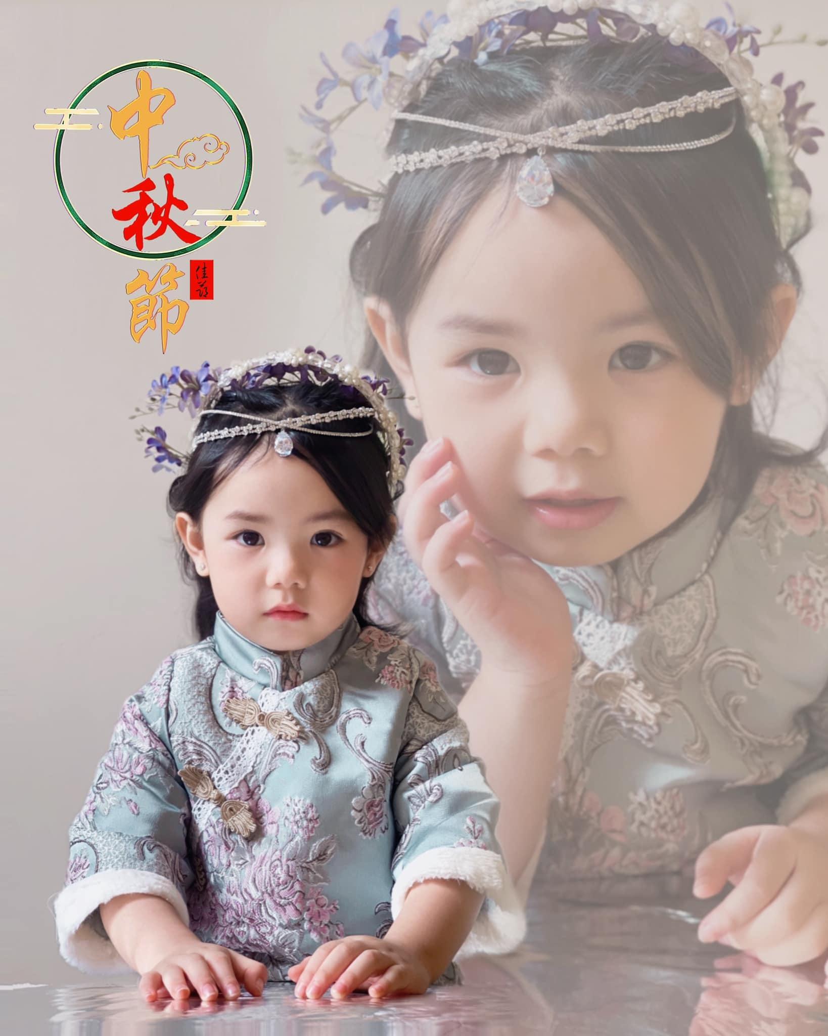 Bé gái 3 tuổi gây 'sốt' với bộ ảnh đón Tết Trung thu 'cây nhà lá vườn'