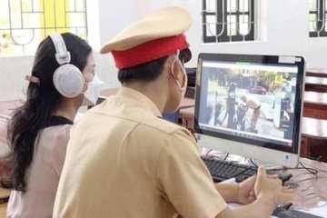 Công an TP Hà Tĩnh tuyên truyền Luật Giao thông đường bộ qua lớp học trực tuyến
