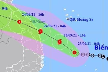 Áp thấp nhiệt đới khả năng mạnh thành bão, tiến nhanh vào vùng biển Thừa Thiên Huế - Bình Định