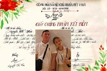 Cô giáo mầm non tự tay làm 'giấy chứng nhận kết hôn' khiến chồng vỡ òa hạnh phúc